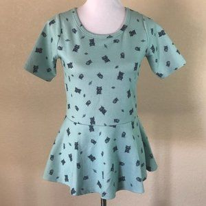 Xhileration Teal Top with Owls